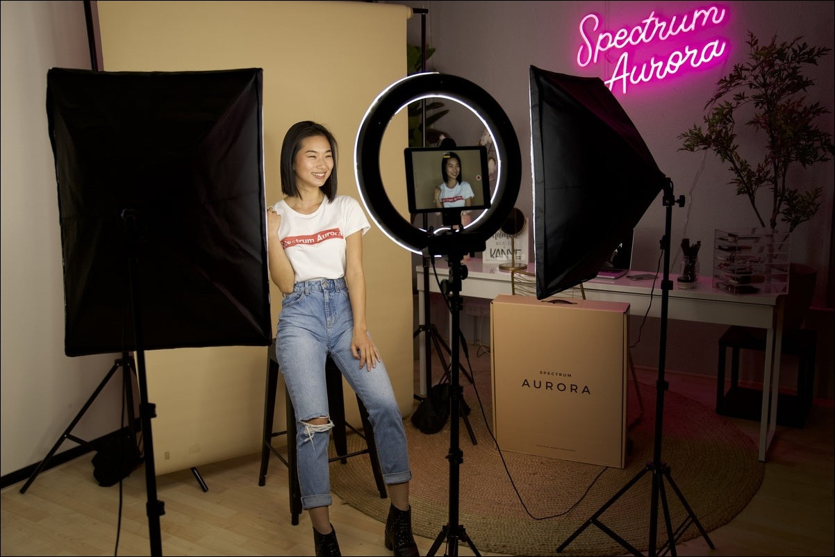 a ring light with a stand can help capture the best picture of your subject