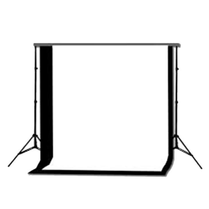 Black/White Double Cotton Muslin Cotton Backdrop & Stand Kit