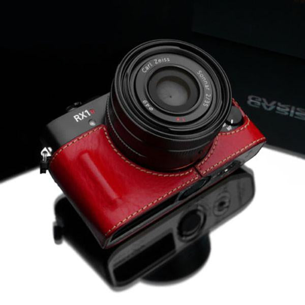 Gariz Red Leather Camera Half Case HG-RX1R2R for Sony DSC-RX1RII Case