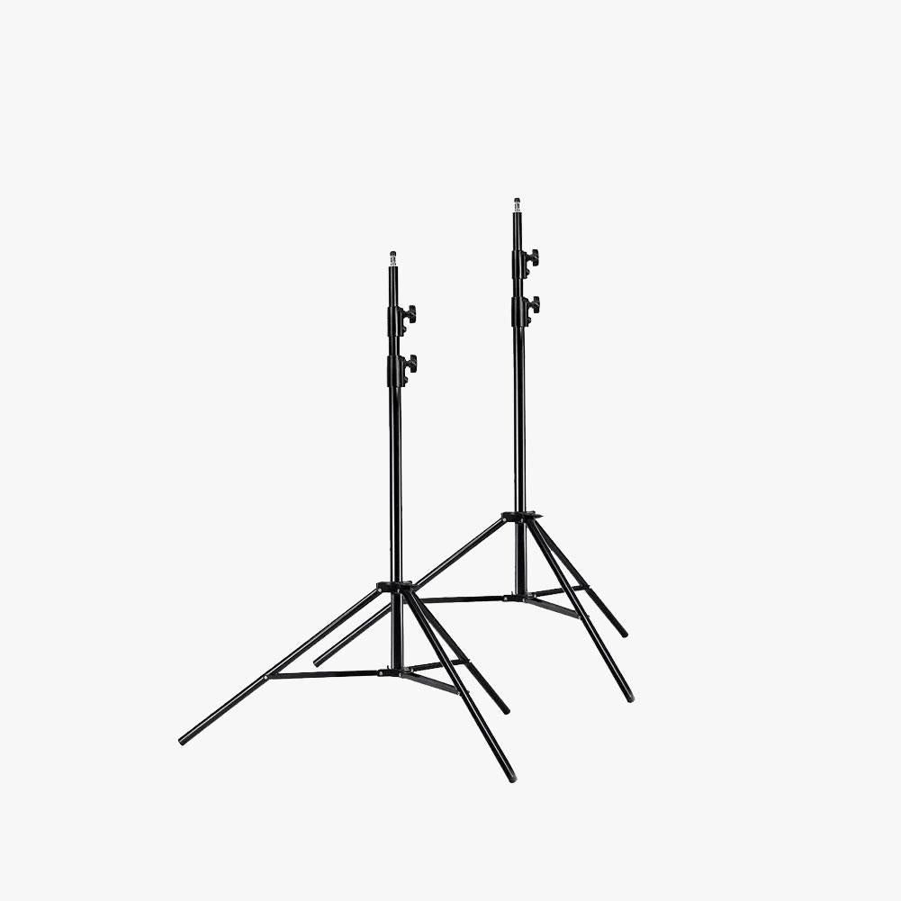 2 x 260cm Heavy Duty Light Stand Tripod