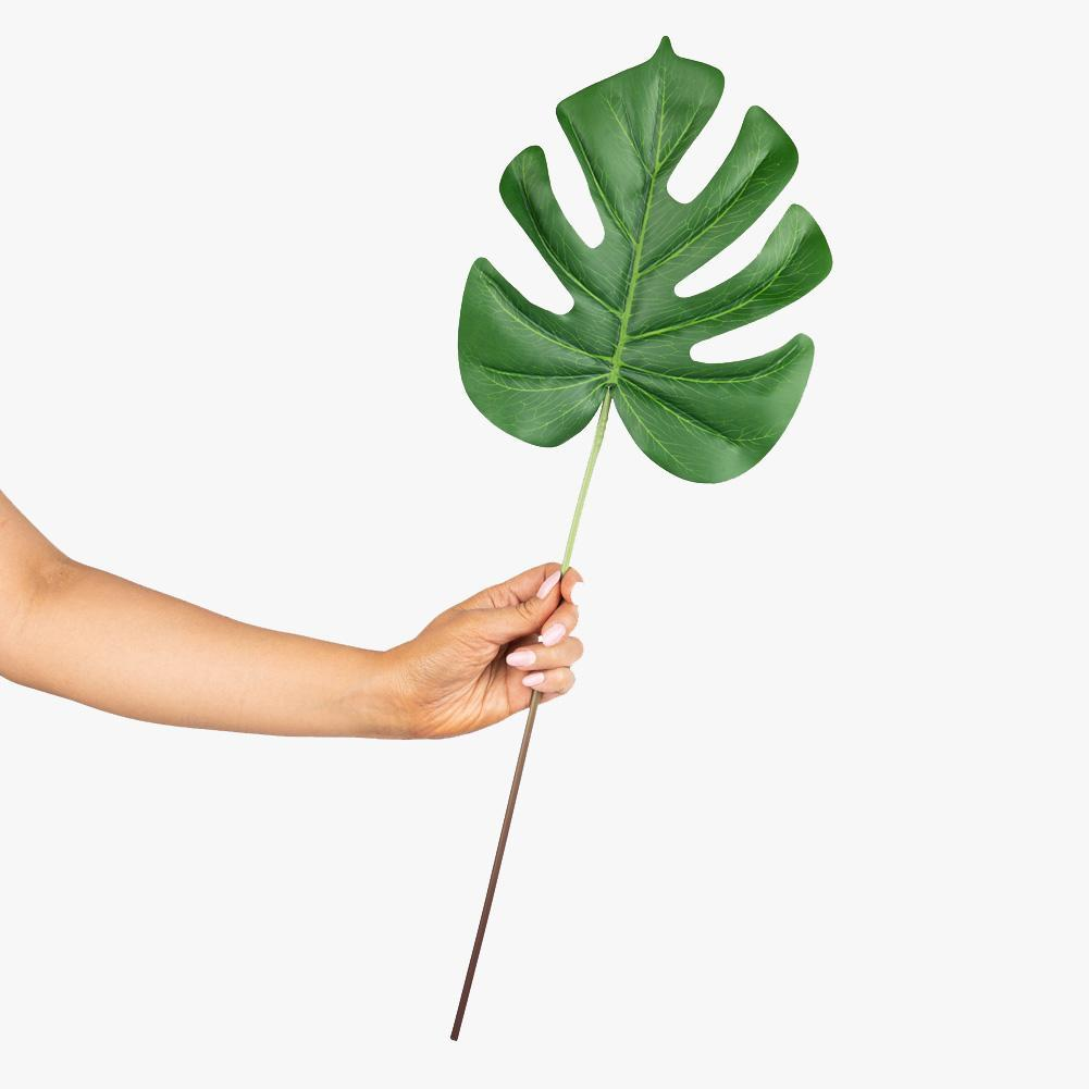 Artificial 58cm Monstera Textured Leaf Stem Photography Styling Prop