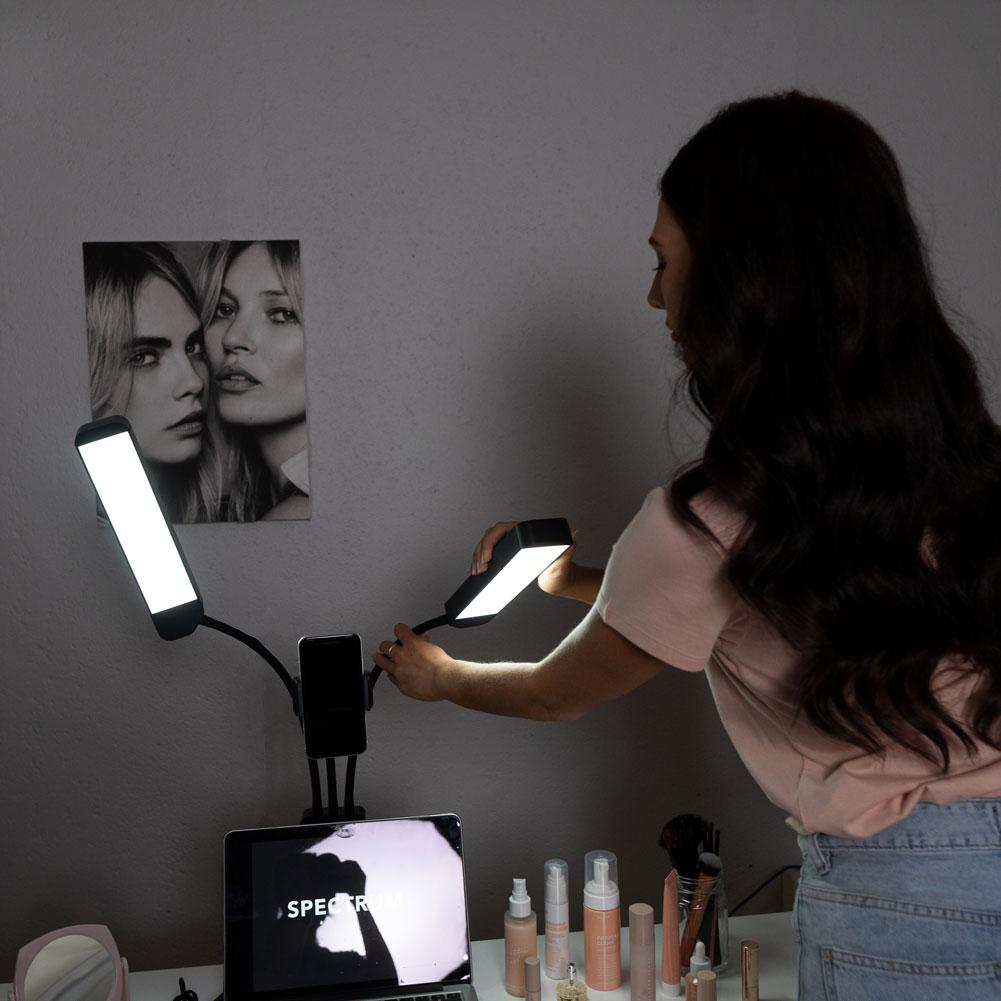 Dual LED Beauty Fill Light With Phone Bracket - 'Eden'