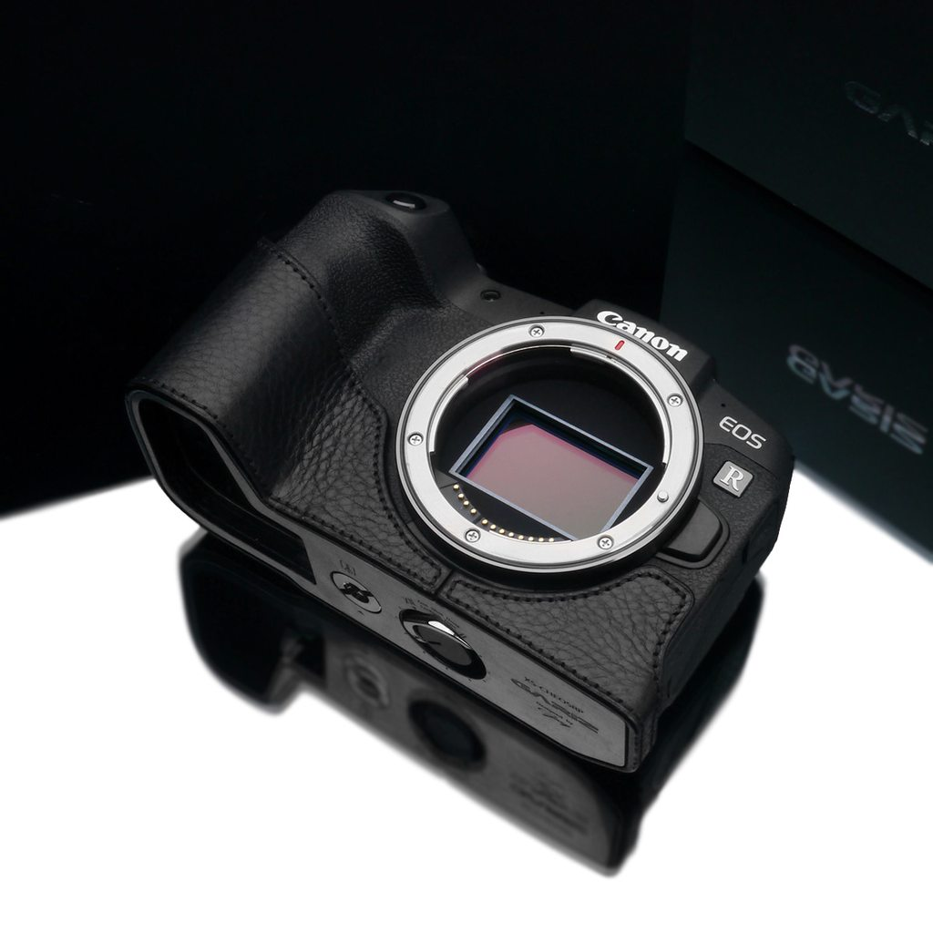 Gariz XS-CHEOSRPBK Black Leather Camera Half Case for Canon EOS RP
