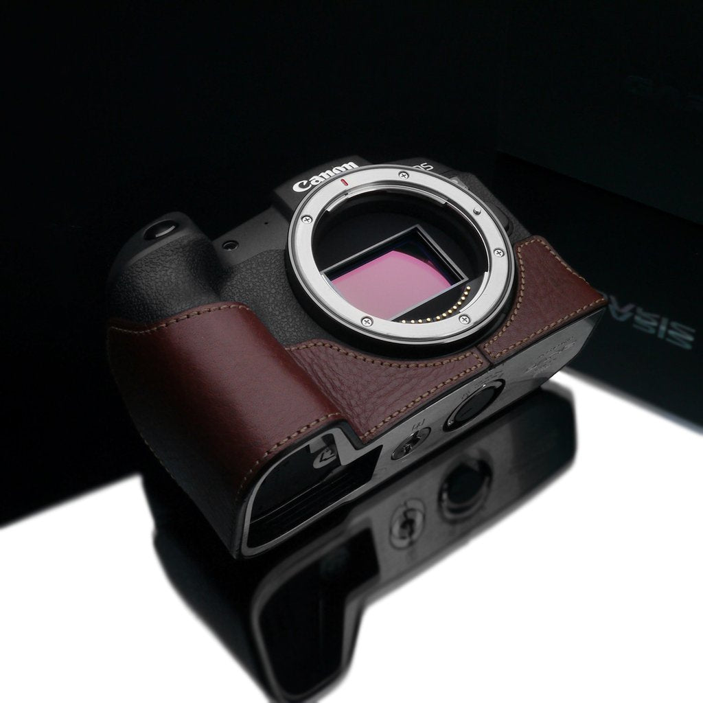 Gariz XS-CHEOSRPBR Brown Leather Camera Half Case for Canon EOS RP