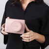 Pink Melten Mirrorless Camera Leather Full Case - Jaycee