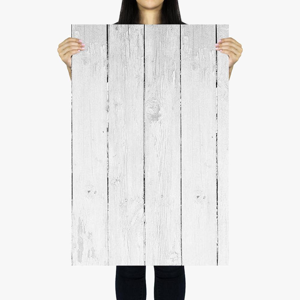 Flat Lay Instagram Backdrop - 'Palm Beach' White Wash Wooden (56cm x 87cm)