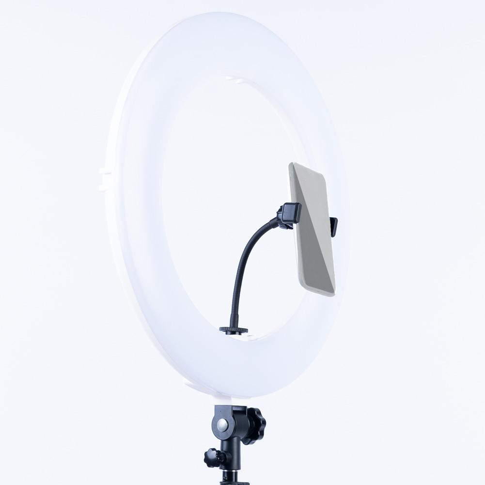 "White 18"" LED Ring Light & Remote - Gold Luxe III"