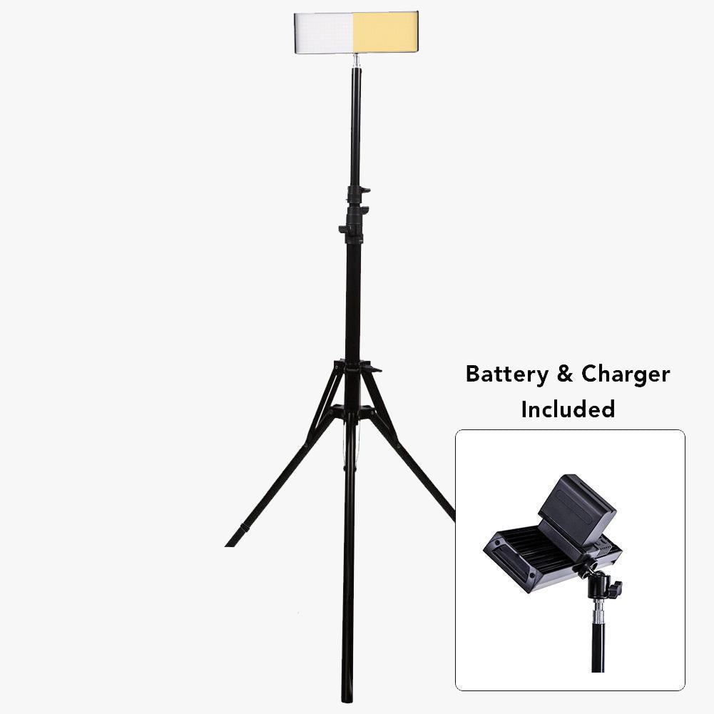 "9"" LED Photography Video Studio Lighting Kit - 1x Crystal Luxe"