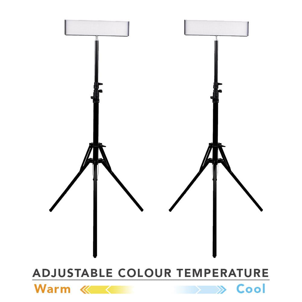 "13"" LED Photography Video Studio Lighting Kit - 2x 'DUO' Crystal Luxe (No Batt & Charger) [BASE PRODUCT]"