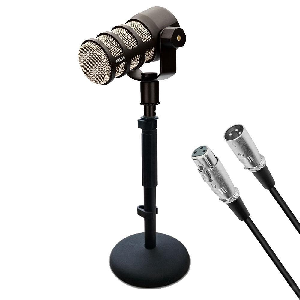 ADD-ON PODMIC MICROPHONE KIT (RODE PODMIC, DESK STAND, 3M XLR CABLE)
