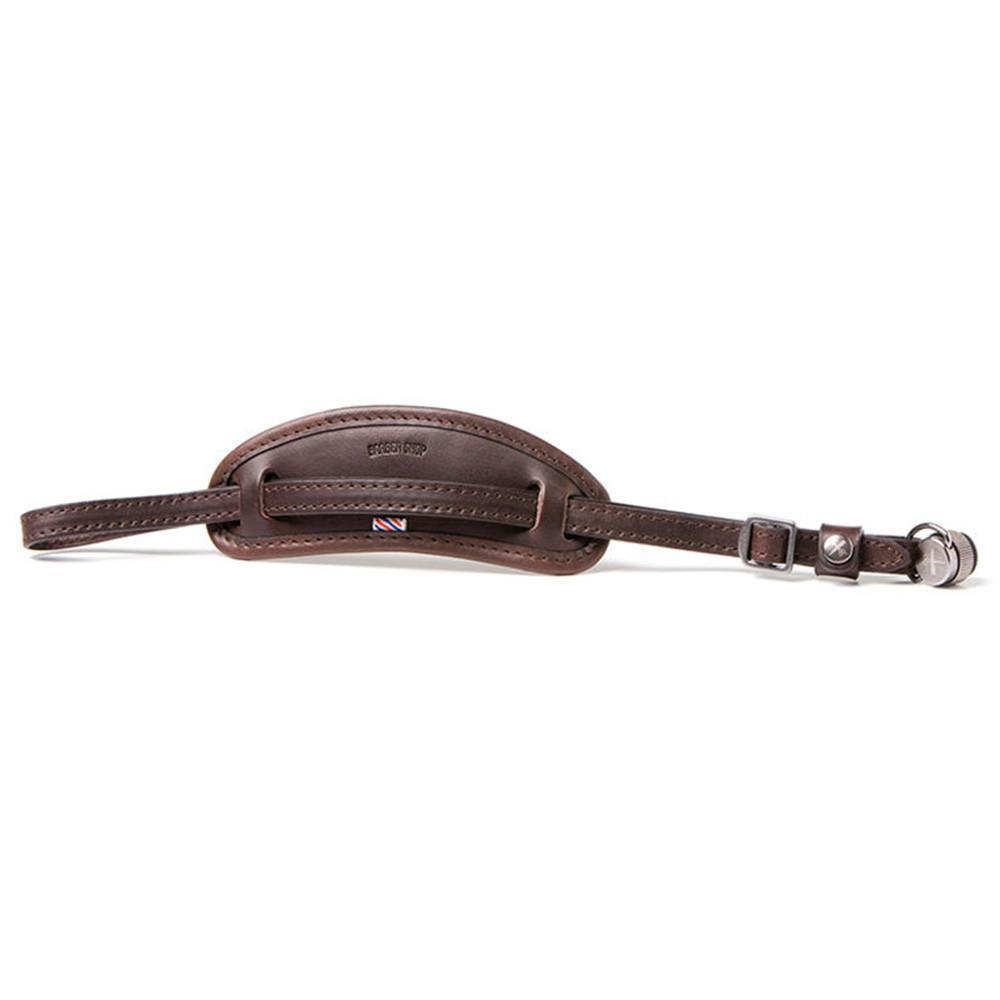 "Barber Shop ""Tight Contour"" Camera Hand Strap (Smooth Dark Brown Leather)"