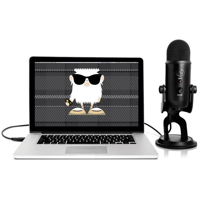 Blue Yeti 3 Capsule USB Microphone - Black