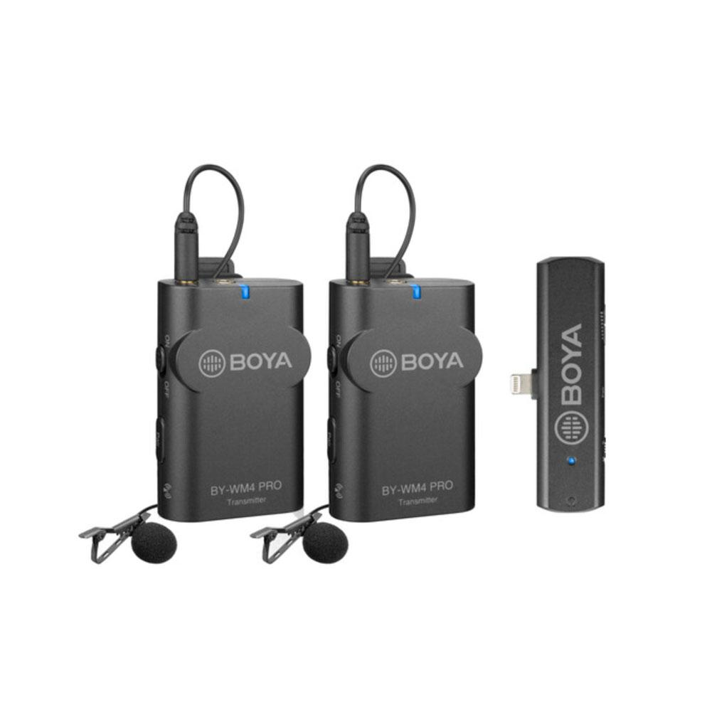 Boya BY-WM4 Pro-K4 Dual Channel Wireless Microphone for iOS Devices