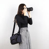 Anthracite Grey Binalpath Canvas Camera Shoulder Bag - Ace