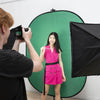 Chroma Key Green/Blue Double Sided Collapsible Pop Up Backdrop (1.5 x 2.1M)