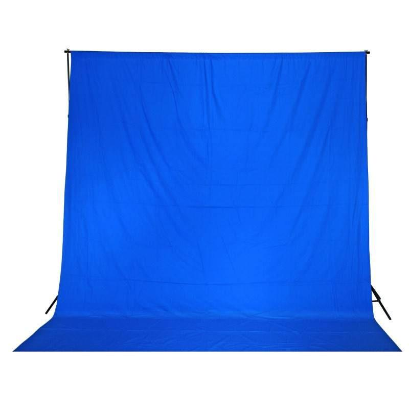 Chroma Key Blue 3M x 3M Cotton Muslin Backdrop
