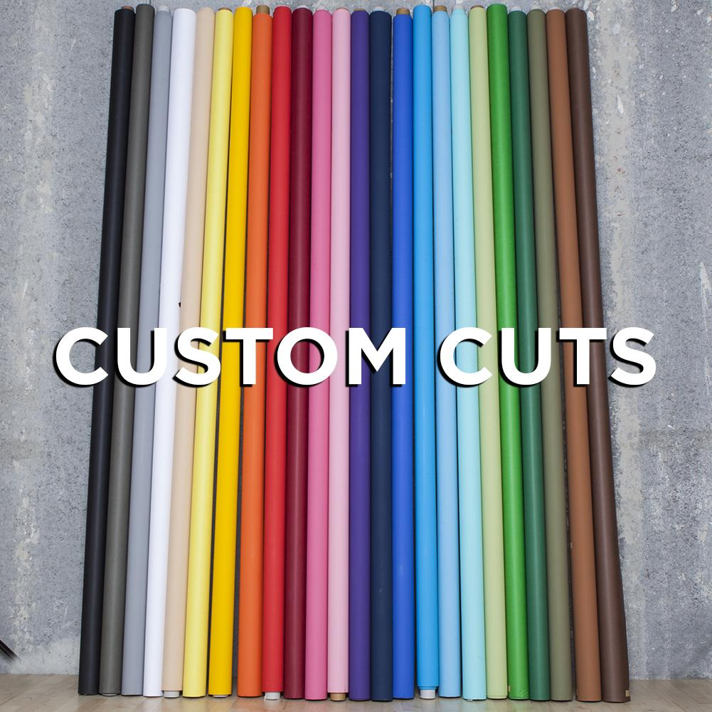 'Custom-Cuts' Non Reflective 272cm Paper Backdrop For Custom Sizing