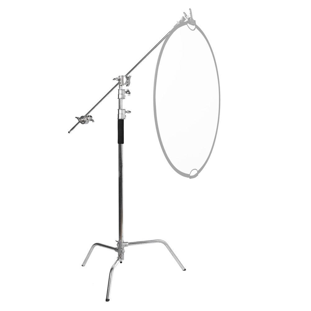 "Pro Double ""Multi-Purpose"" C-Stand Heavy Duty Backdrop Studio Setup (20kg Load)"