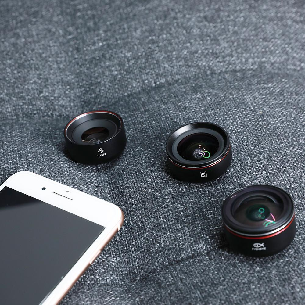 ORANGEMONKIE HD PHONE LENS KIT LENS-MWF (INCLUDES MACRO, WIDE AND FISHEYE LENS)