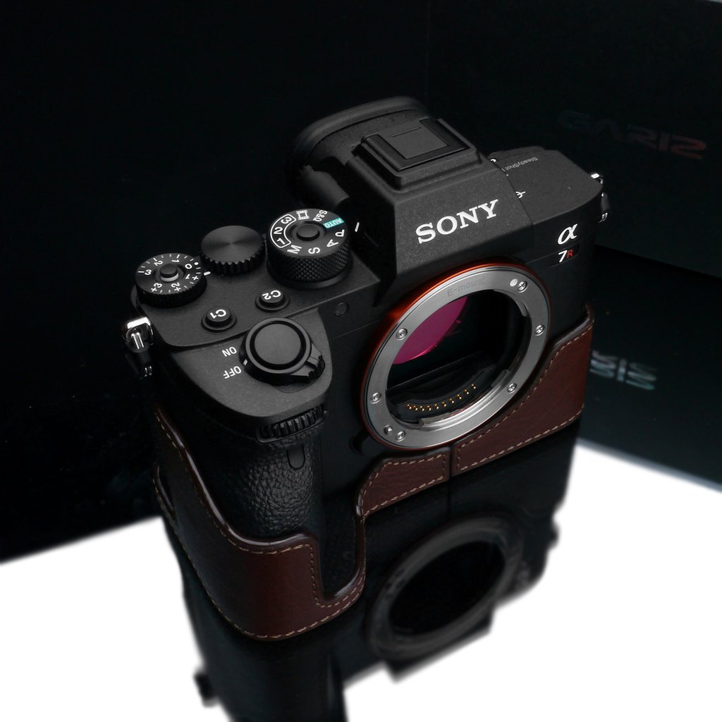 Gariz Brown XS-CHA7RM4BR Genuine Leather Half Case for Sony A7RIV
