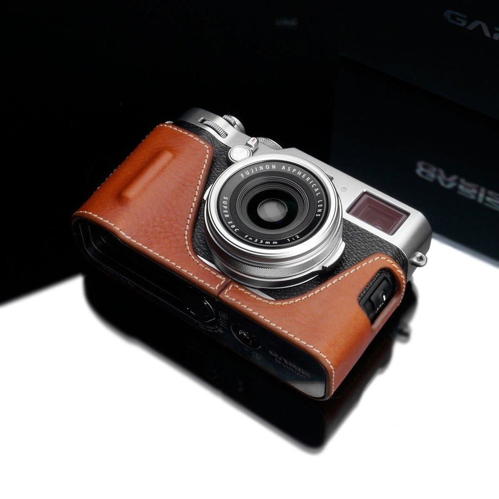 Gariz HG-X100FCM Camel Leather Camera Half Case for Fujifilm Fuji X100F