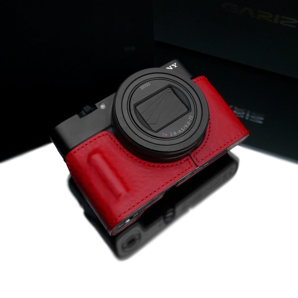 Gariz Red HG-RX100M7R Leather Camera Half Case for Sony RX100M7/RX100M6