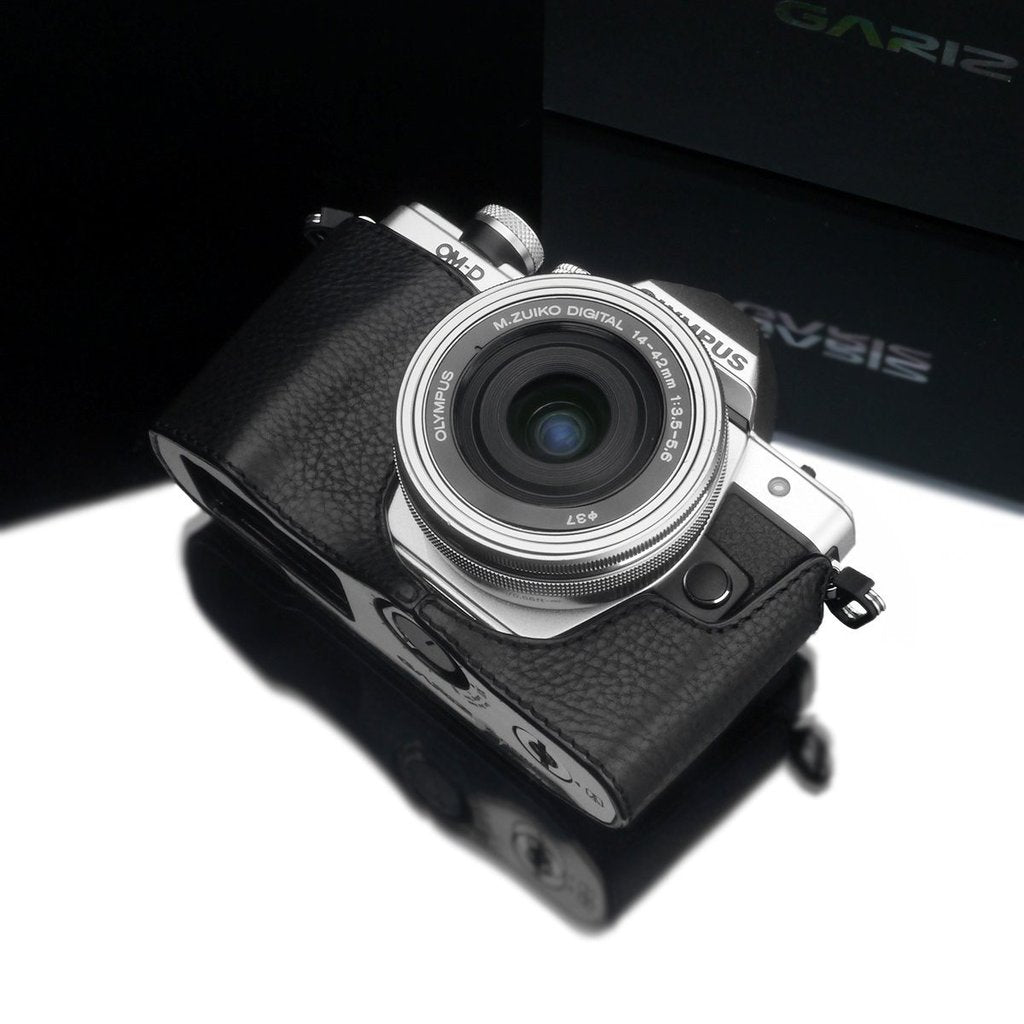 Gariz XS-CHEM10IIBK Camera Half Case Black for for Olympus E-M10II Mark II