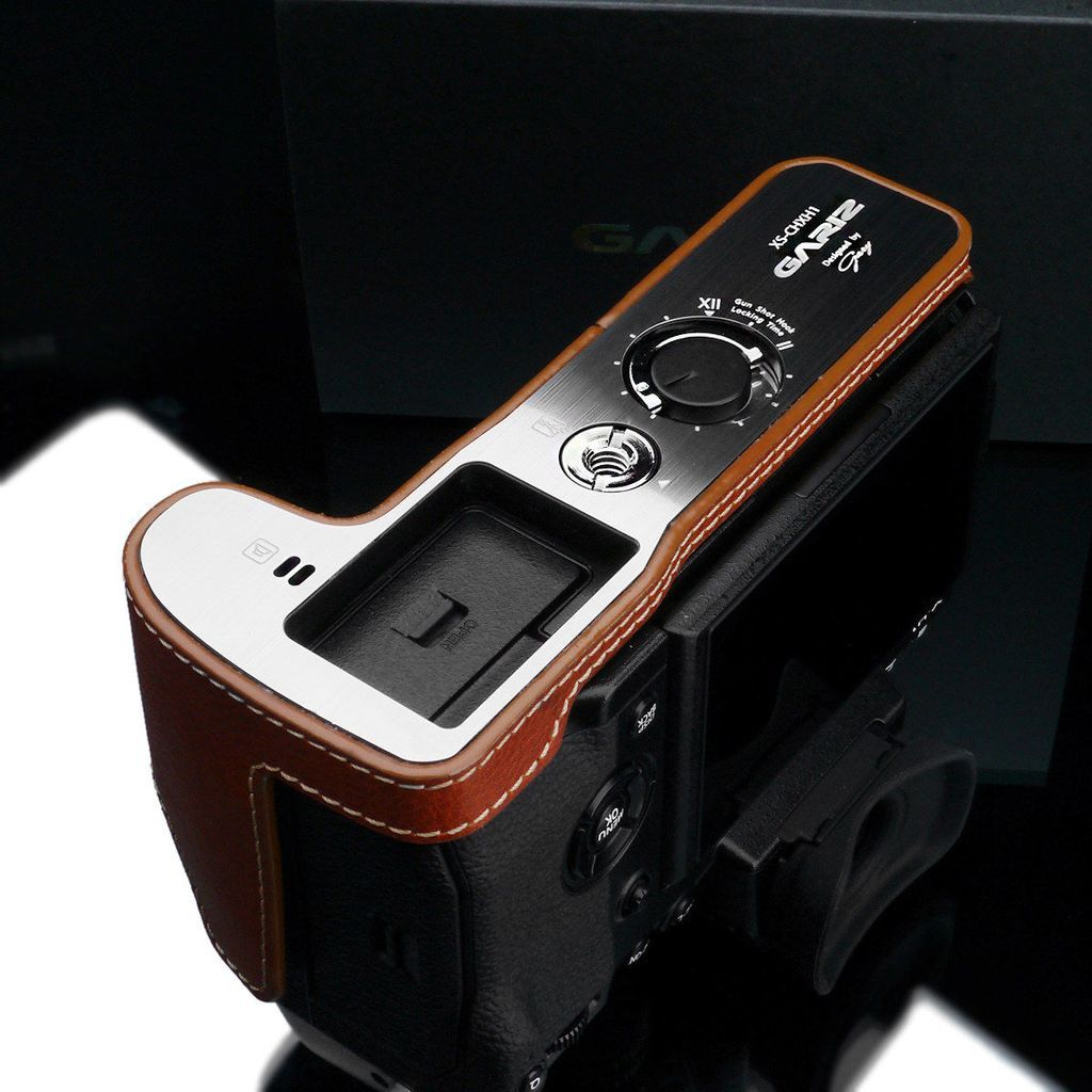 Gariz XS-CHXH1CM Leather Camera Half Case Camel for Fujifilm X-H1