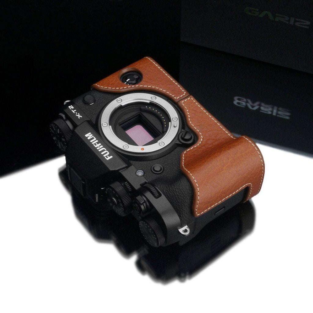 GARIZ XS-CHXT2CM CAMEL GENUINE LEATHER HALF CASE FOR FUJI FUJIFILM X-T2/X-T3 XT2