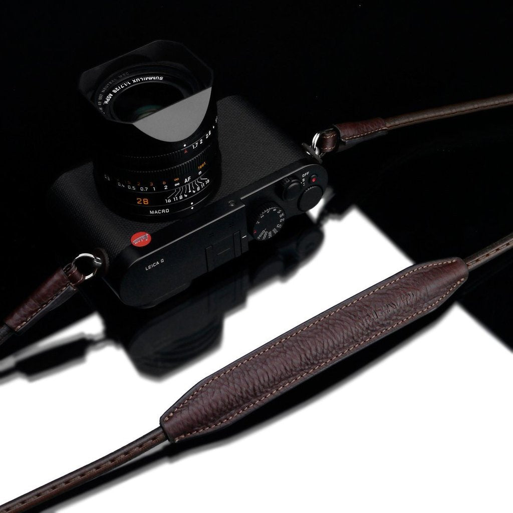 "Gariz XS-CSNLBR Brown 115cm / 45"" Leather Camera Neck & Shoulder Strap for Mirrorless Cameras"