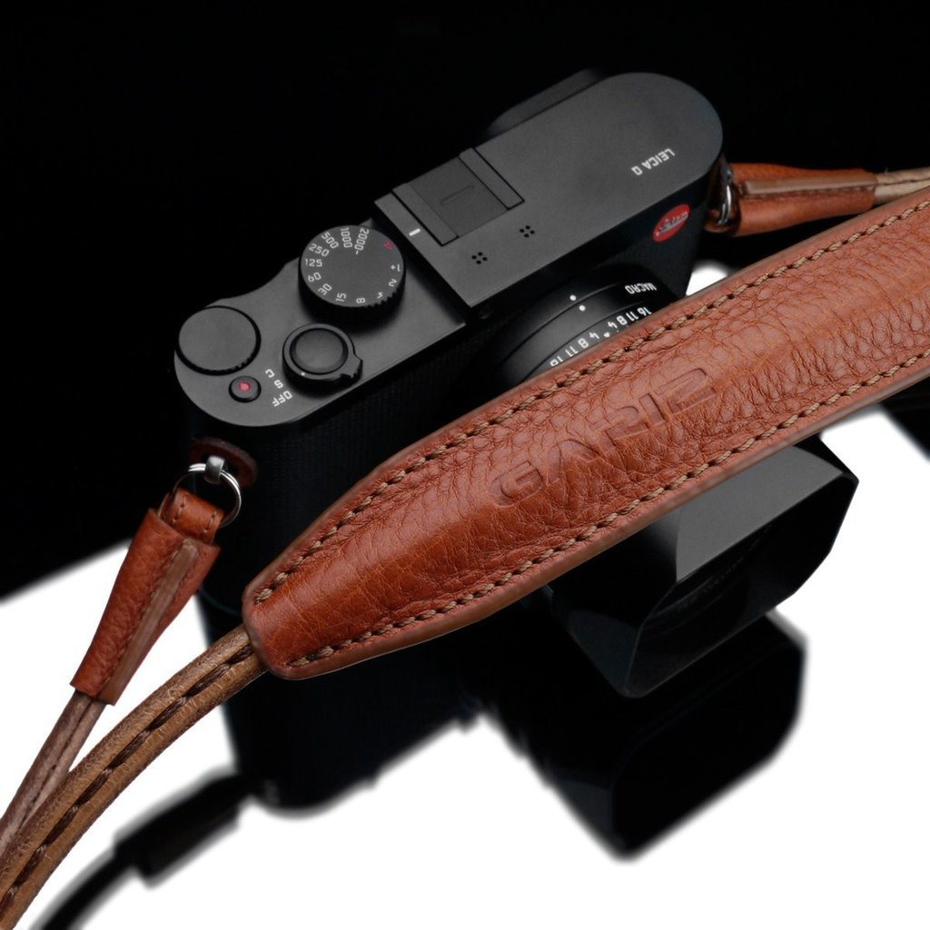 "Gariz XS-CSNLCM Camel 115cm / 45"" Leather Camera Neck & Shoulder Strap for Mirrorless Cameras"