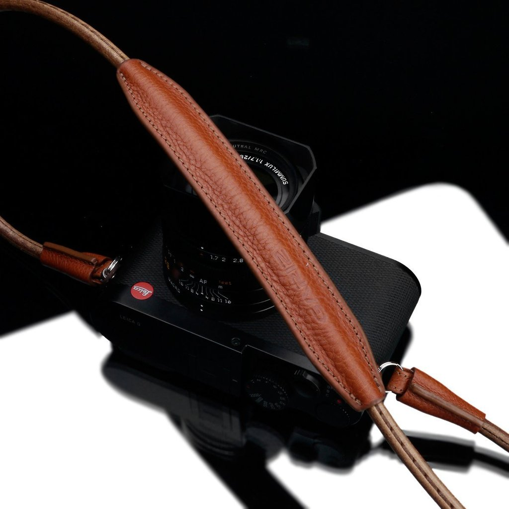"Gariz XS-CSNSCM Camel 80cm / 31.5"" Leather Camera Neck & Shoulder Strap for Mirrorless Cameras"