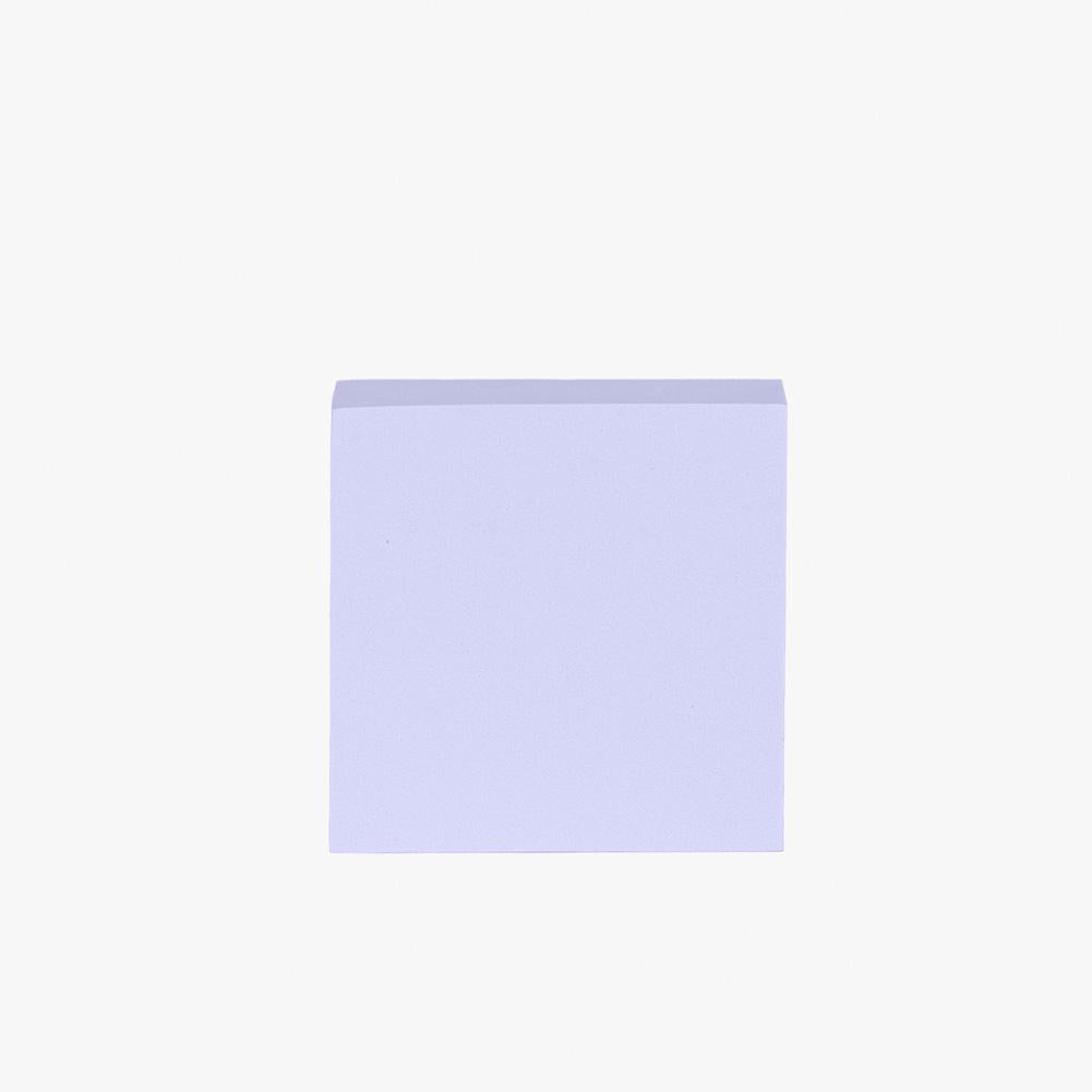 Geometric Foam Styling Props for Photography - Short Square 10cm (Periwinkle Purple)