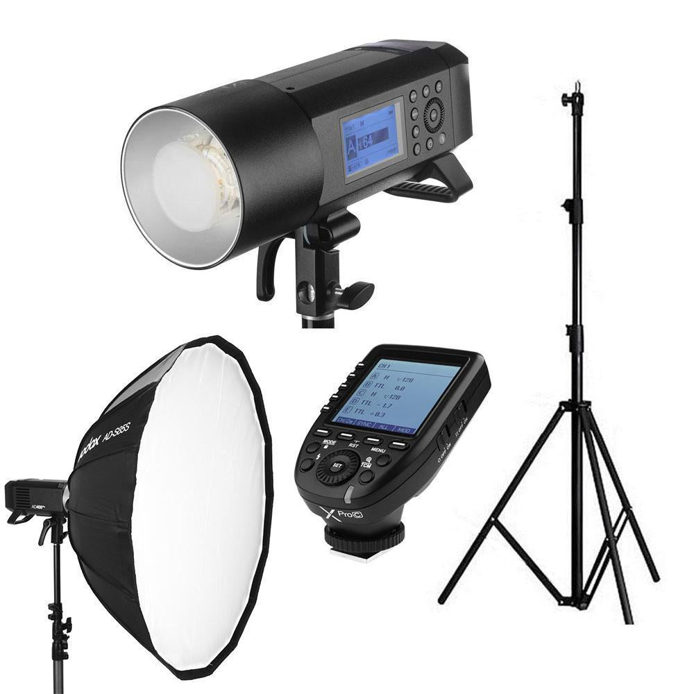 Godox AD400Pro Witstro Portable Strobe Kit (Flash, Stand, Softbox and Trigger)