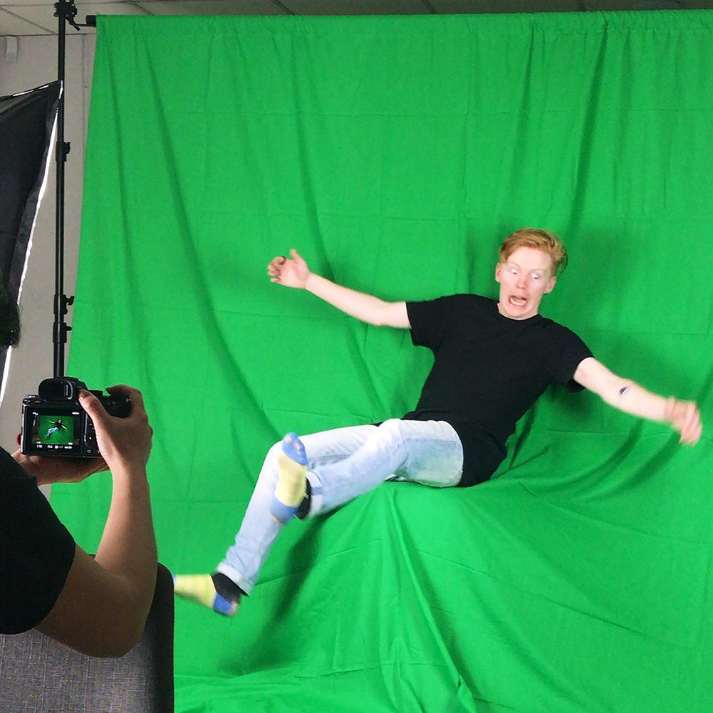 Chroma Key Green Screen 1.8M x 2.8M Cotton Muslin Background