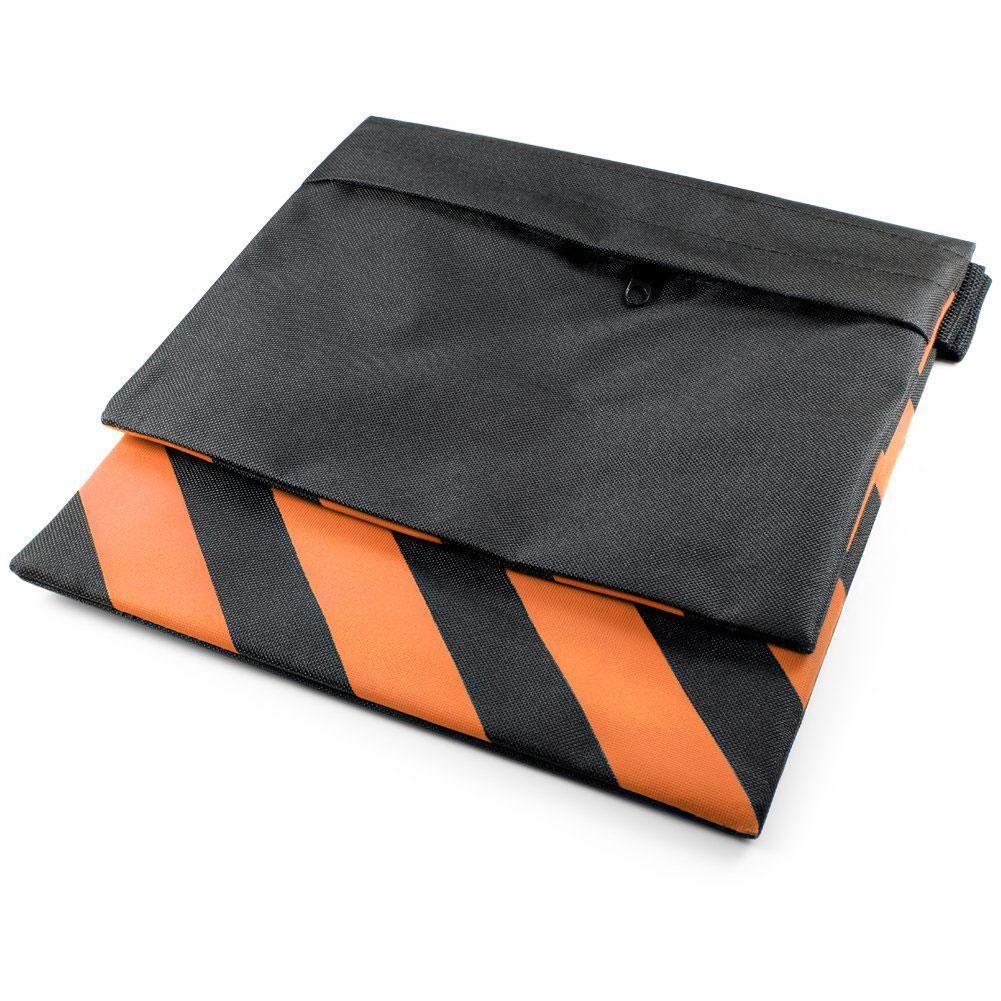 2x Heavy Duty 10kg Rated Orange / Black Sandbag (Empty)