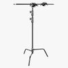 Hypop Heavy Duty Photographic Black C-Stand With Boom Arm (20kg Load)