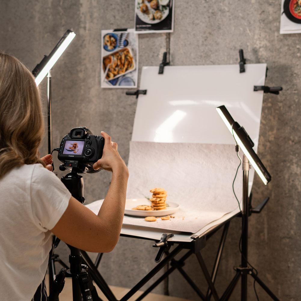 Pro 'Foodie' 60cm Studio Food Photography Table & Led Lighting Kit