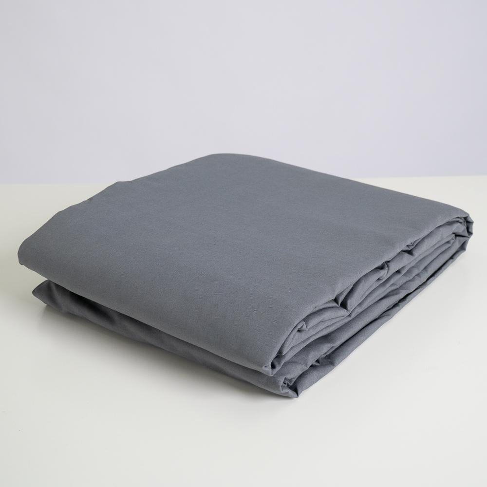 Solid Grey 3M x 3M Cotton Muslin Background
