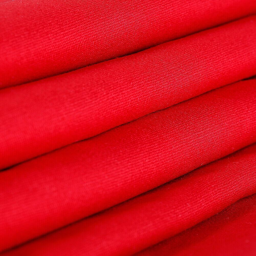 Solid Red 1.8 x 2.8M Cotton Muslin Backdrop