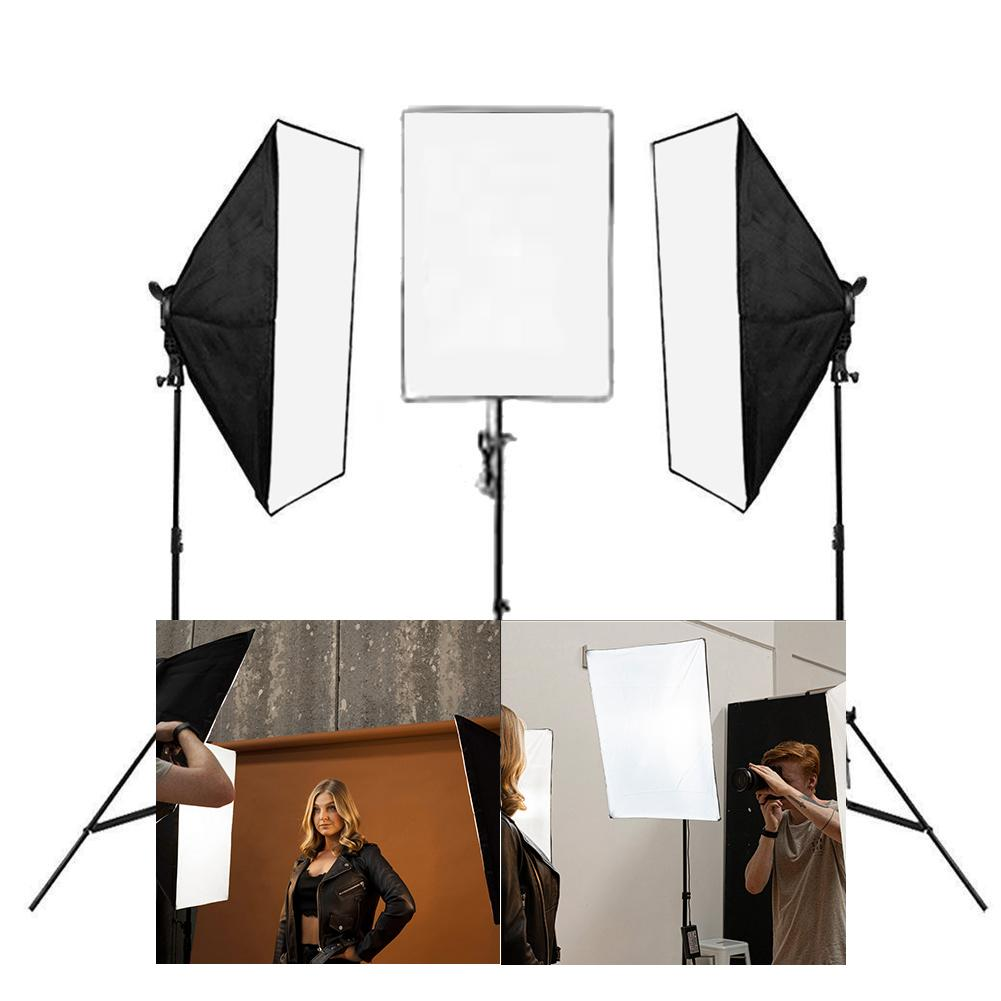 Triple 'Producer Pack' Double Rectangle Softbox Lighting Kit