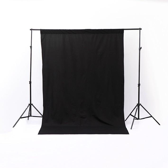 Backdrop Stand and Triple Colour Muslin Cotton Backdrop Kit