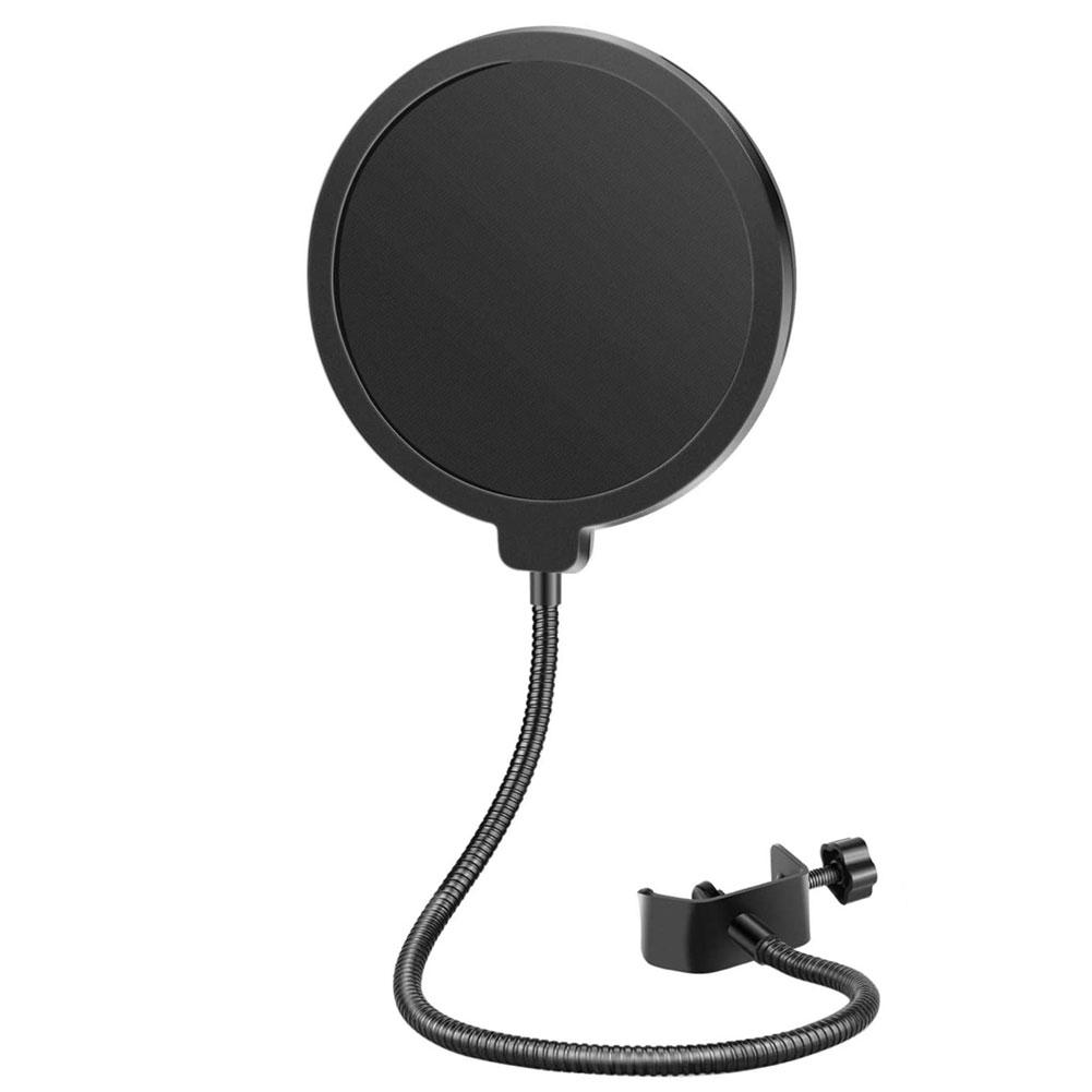 Microphone Pop Filter Shield with Flexible Gooseneck
