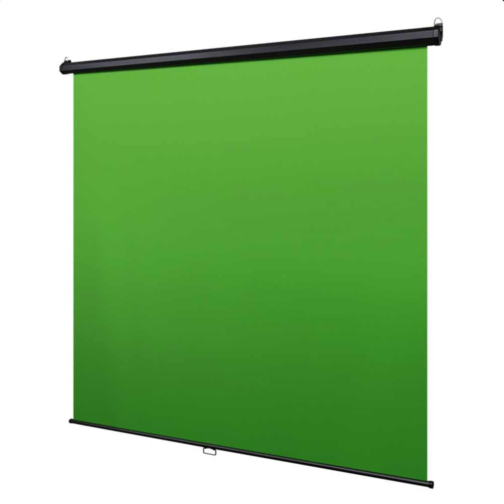 'Instant Studio' Mountable Pull Down Backdrop Screen- Chroma Key Green
