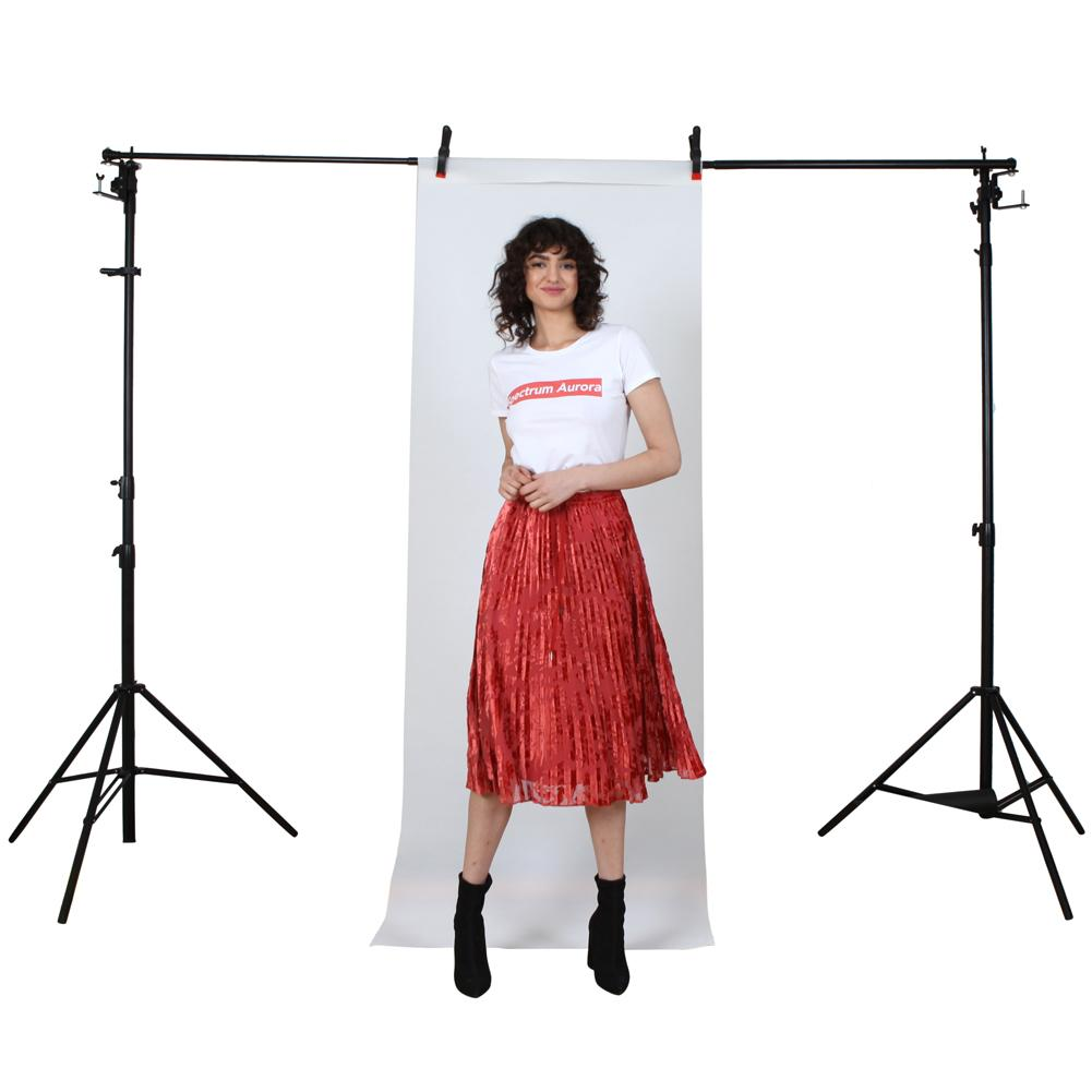 White 'Fotodrop' Synthetic Non-Woven Portrait Background 0.91m x 2.75m (Pegs and Backdrop Stand not included)