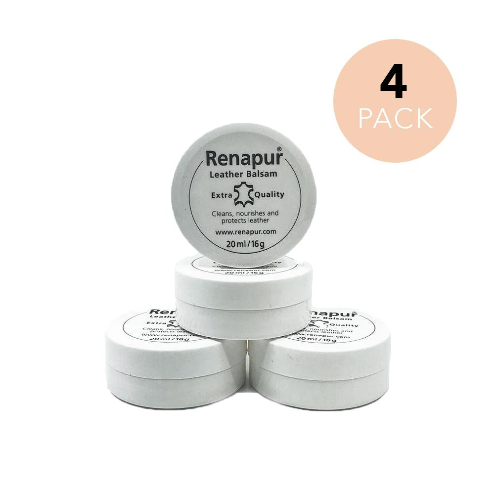 Leather Protector, Conditioner & Cleaner 20ml 4 Pack - Renapur Family Bundle