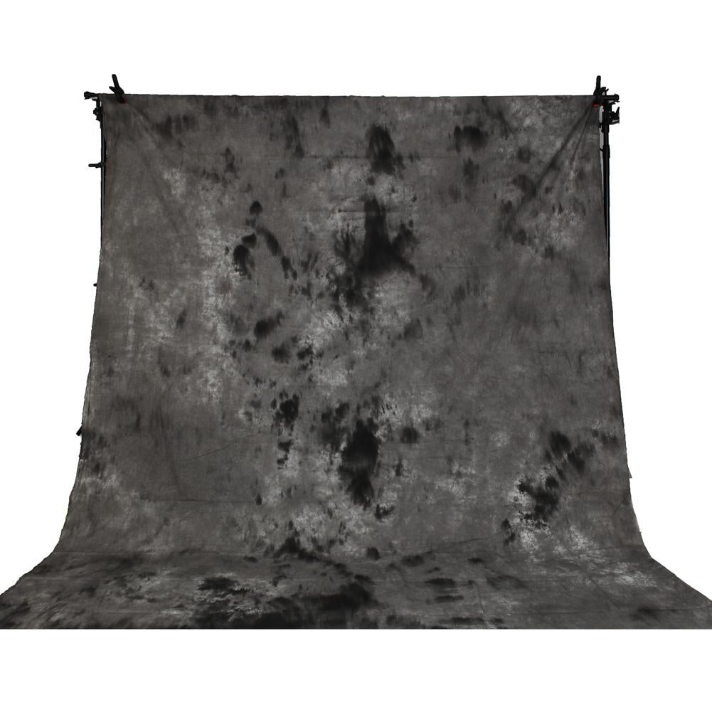 Spectrum Kaleidoscope Series Mottled Cotton Muslin Backdrop 3M x 5M - Smoke and Mirrors