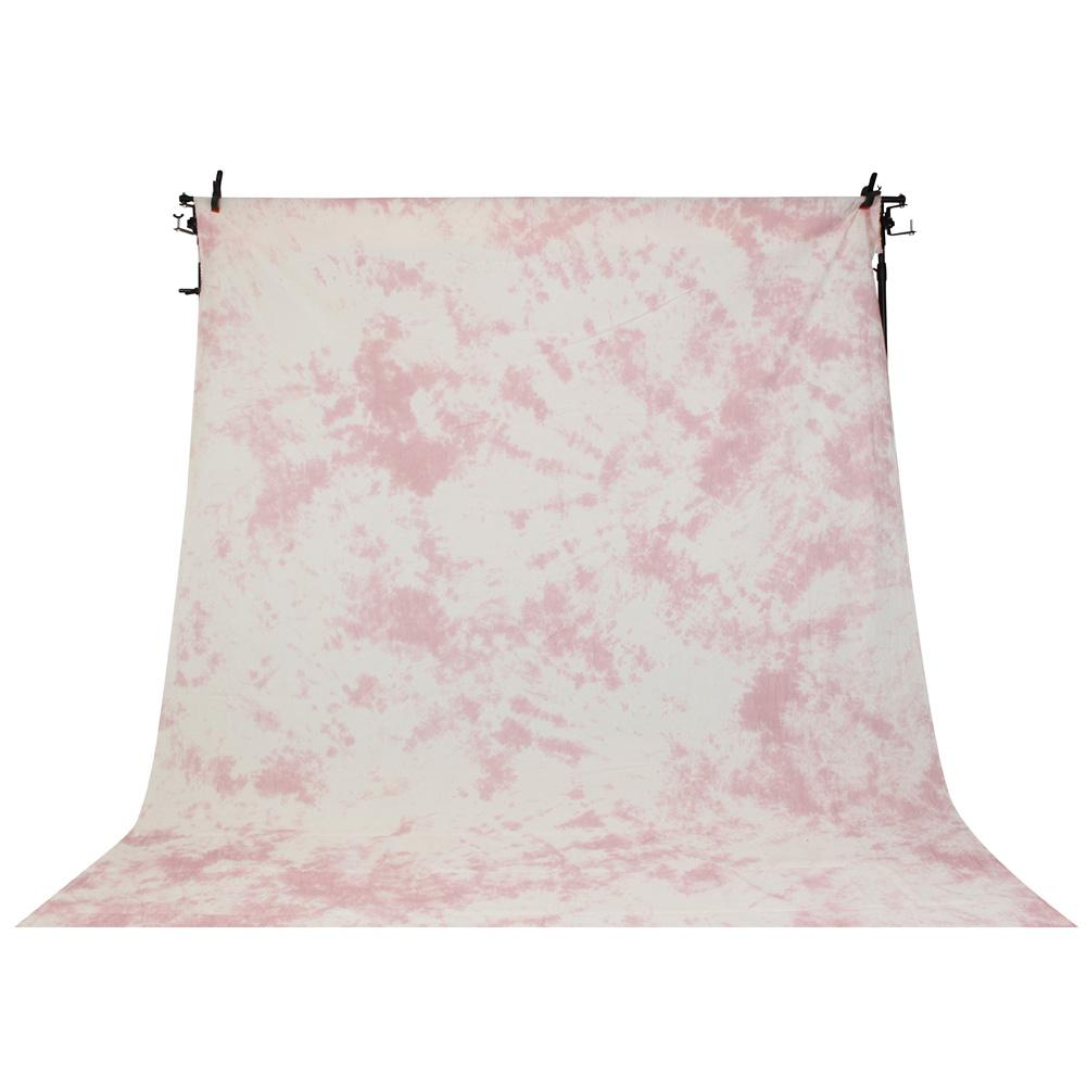 Kaleidoscope Series Mottled Cotton Muslin Backdrop 3M x 5M - Soft Fairy Floss