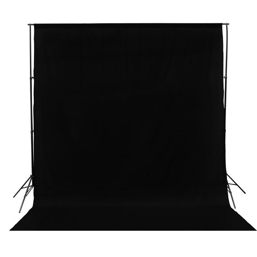 Black 3m x 3m Studio Cotton Muslin Backdrop