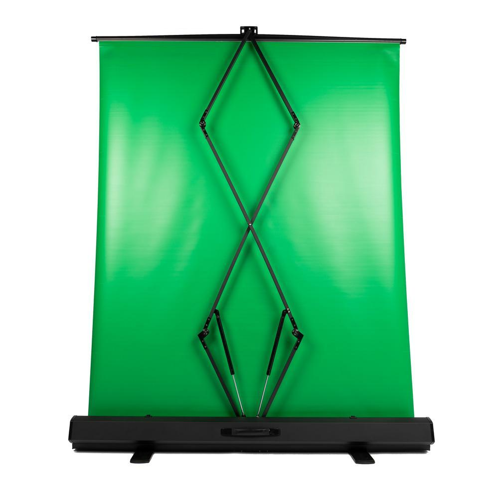 'Live Stream Master' Pull Up Chroma Key Green Screen Backdrop for Video (148cm x 210cm)